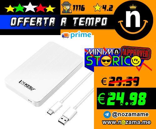 Hard Disk Esterno 250GB USB-C 3.1