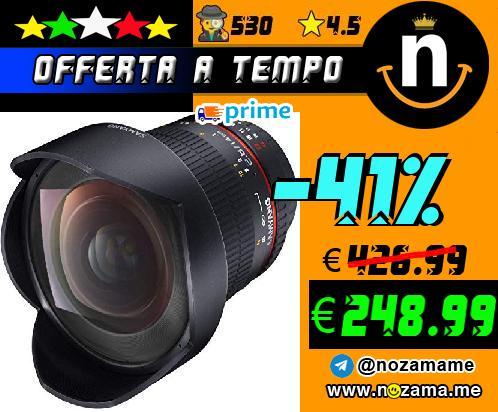 SAMYANG Obiettivo grandangolare per fotocamere digitali Nikon