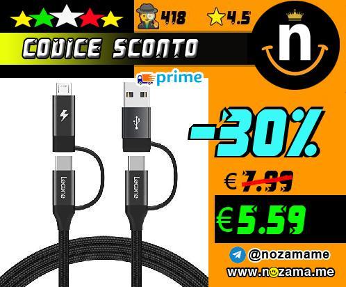 Lecone Cavo USB-C 4 in 1