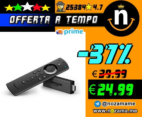 Fire TV Stick con telecomando vocale Alexa
