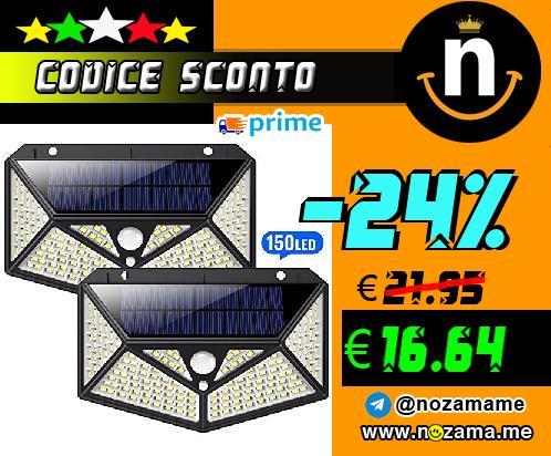 2x Lampada Solare con Sensore