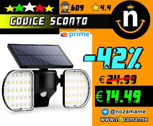 Lampada Solare 56 con Sensore
