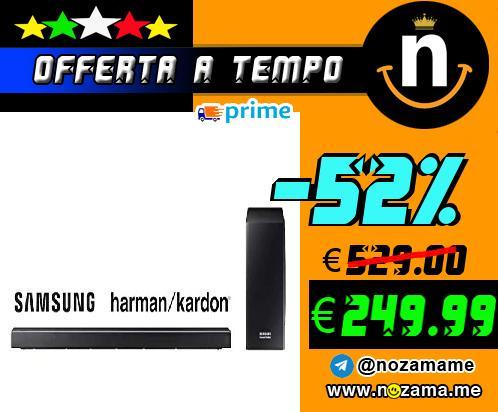 Samsung Soundbar HW-Q60R ZF Soundbar da 360 W  5 1 Canali  Nero