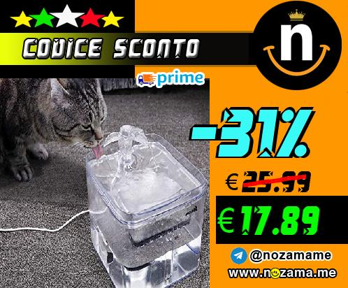 Pecute Fontana per Gatti Cani  Fontana per Animali Domestici  Ultra-Silenzioso  3L  3 Tipi di modalit   di Uscita  2 filtri riutilizzabili  Design Trasparente