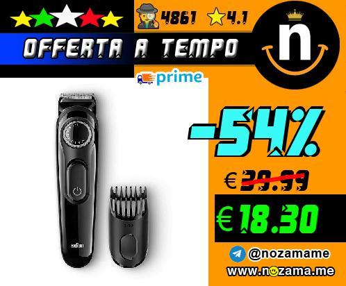 Braun BT3020 Regolabarba  Regolatore per Barba e Capelli  Nero