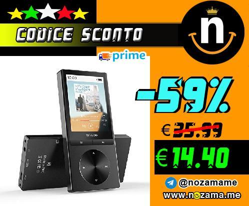 Lettore MP3 Bluetooth 4 0 Lettore MP3 con Radio FM  16 GB Registratore Vocale MP3 Player con Schermo 2 4       TFT Fascia Espandibile fino a 128 GB