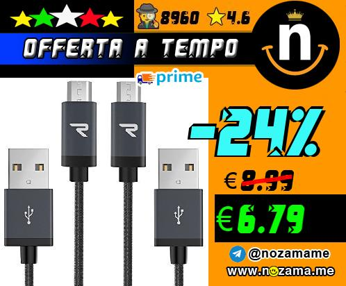 2x Cavo Micro USB in Nylon